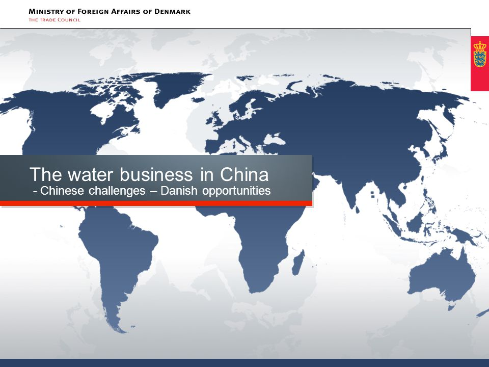 Agenda Highlights on China and water The 12.
