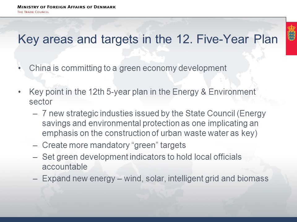 Implications for the water business RMB 4 trillion investment in infrastructure A binding target for decrease in water consumption per unit of value- added industrial output by 30% from 2010 to 2015 40 billion m3 urban water supply capacity Improvement of large irrigation districts Urban waste water plants and treatment systems for rural areas  Integrated solutions  Pricing mechanisms and management systems  Recycling and monitoring systems  Upgrading of existing plants
