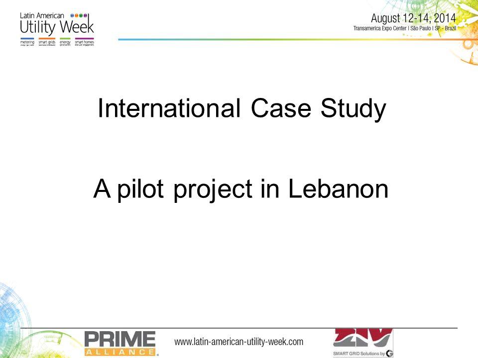 International Case Study A pilot project in Lebanon