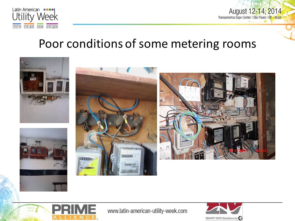 Poor conditions of some metering rooms