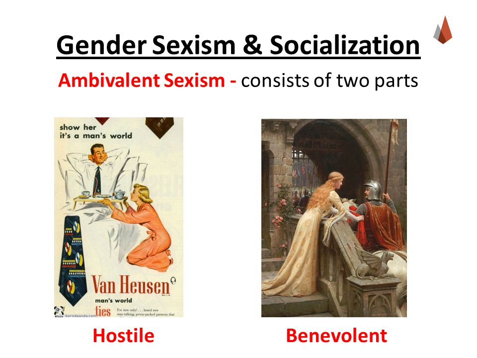 Ambivalent Sexism - consists of two parts Hostile Benevolent