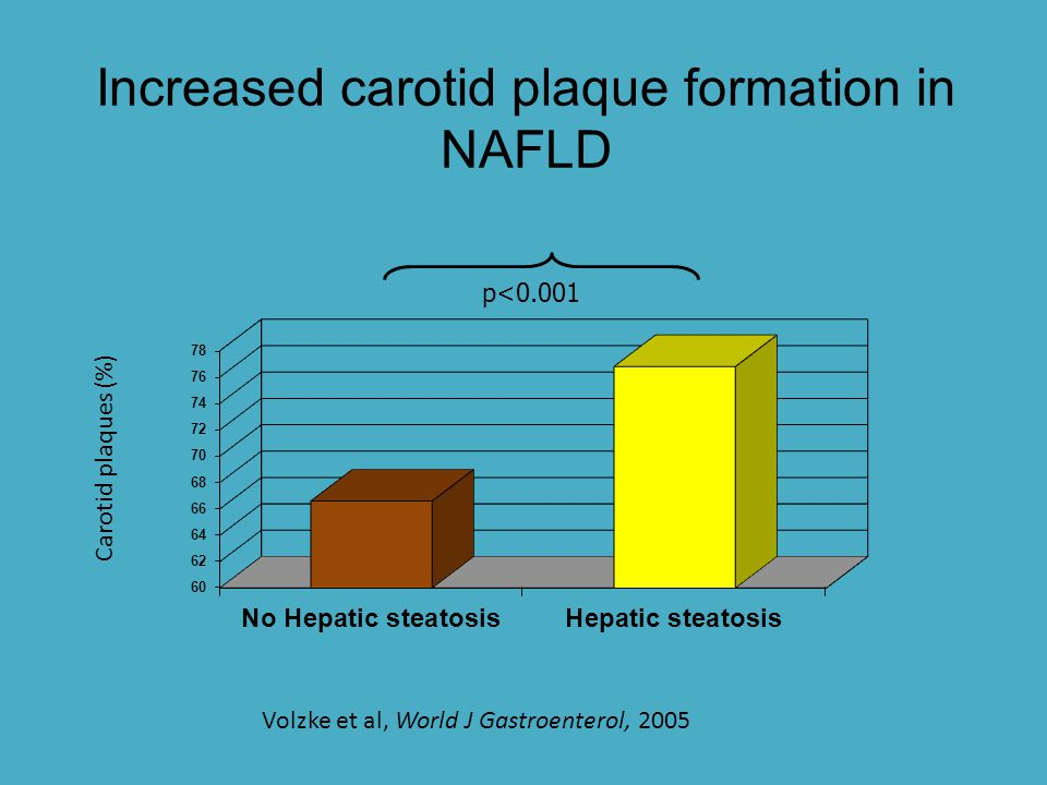 NAFLD increases cardiovascular risk independent of the metabolic syndrome 10 yr incidence of cardiovascular events moderately increased in NAFLD 1 Should discovery of fat on US prompt screening for and treatment of cardiovascular disease risk factors.