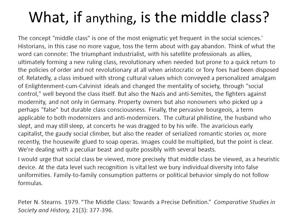What, if anything, is the middle class.