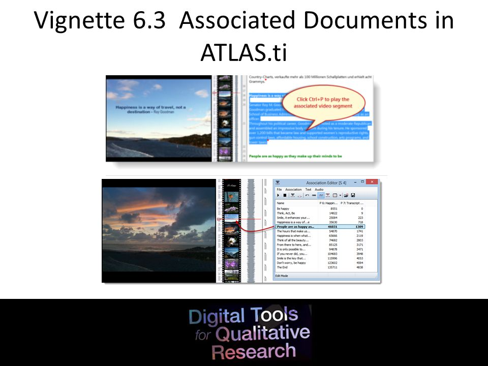Vignette 6.3 Associated Documents in ATLAS.ti