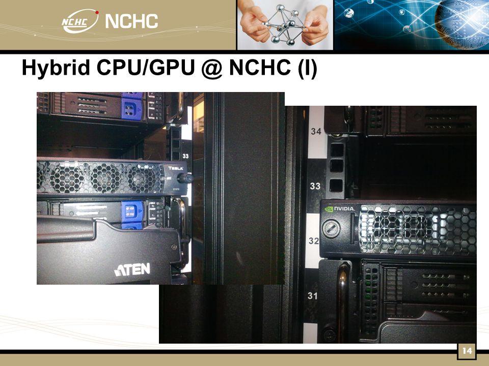 Hybrid CPU/GPU @ NCHC (I) 14