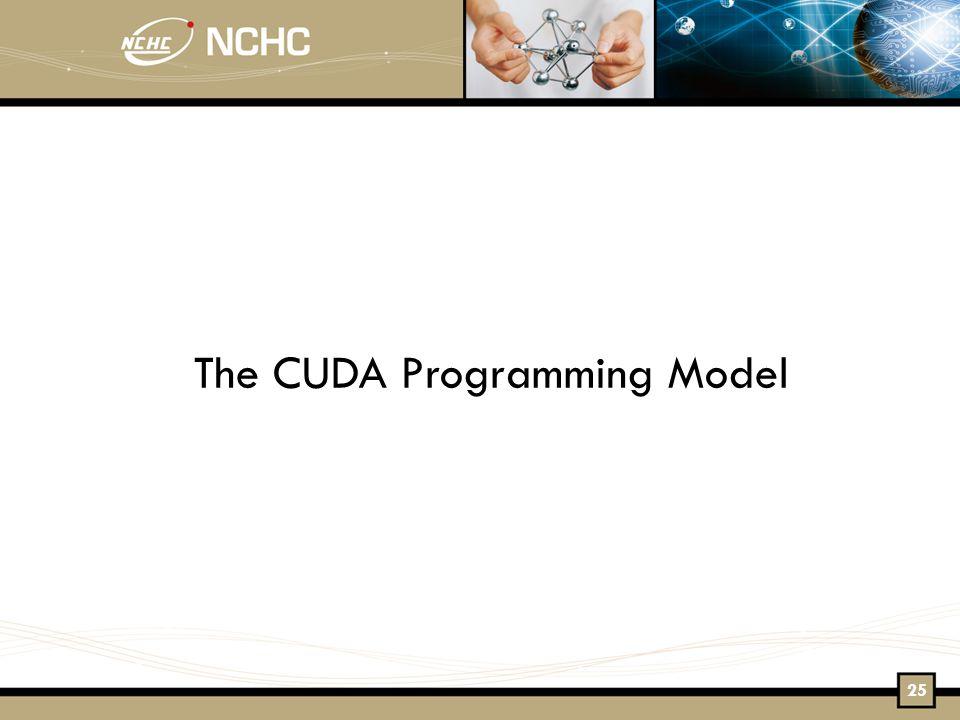 The CUDA Programming Model 25