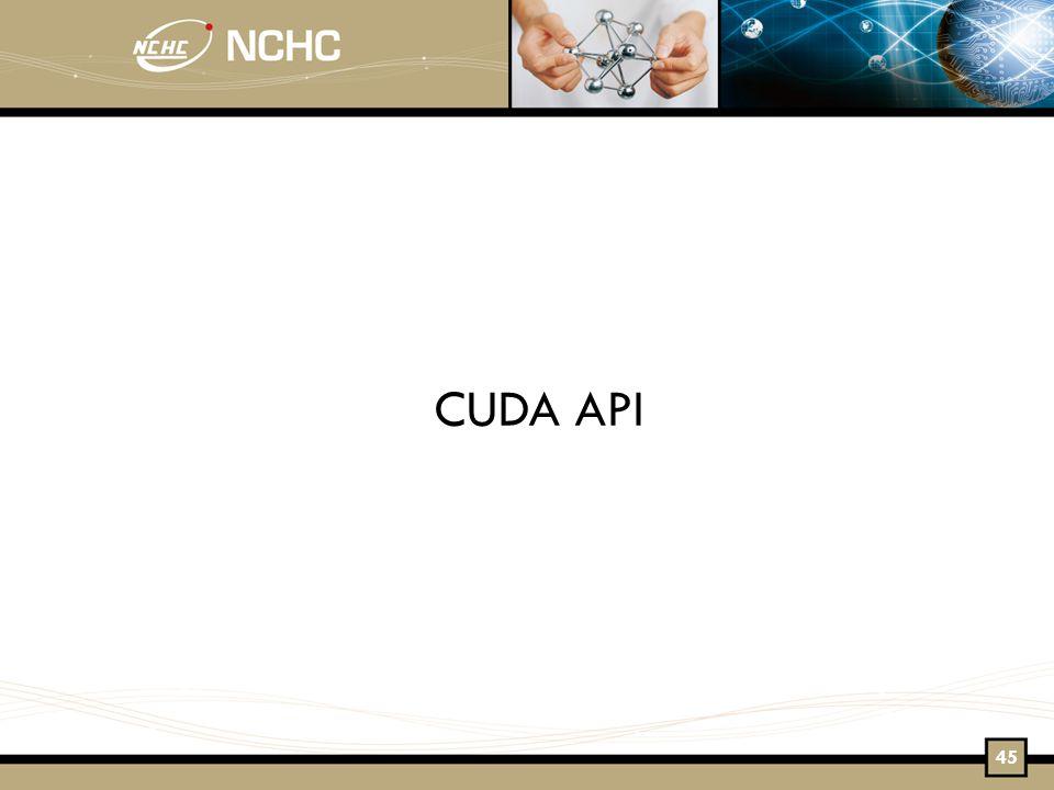 CUDA API 45