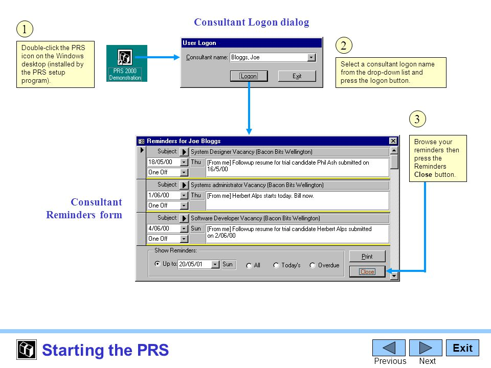 Reports The PRS has over two dozen distinct CRM and financial reports.