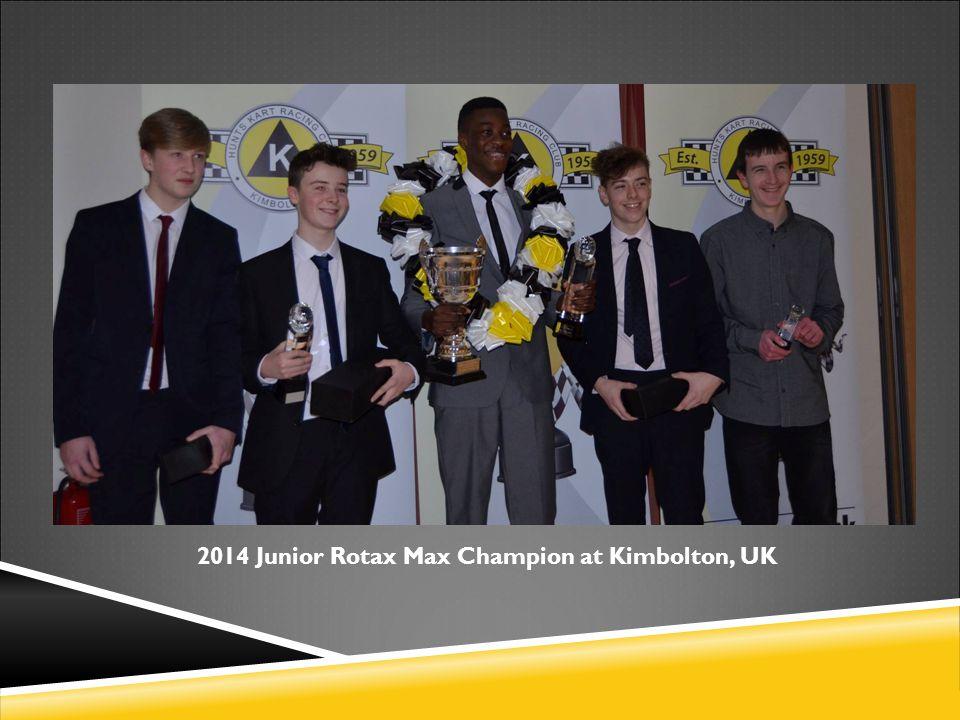 2014 Junior Rotax Max Champion at Kimbolton, UK