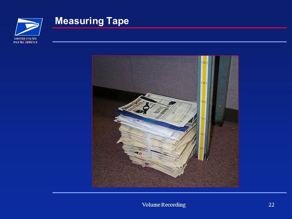 Volume Recording22 Measuring Tape