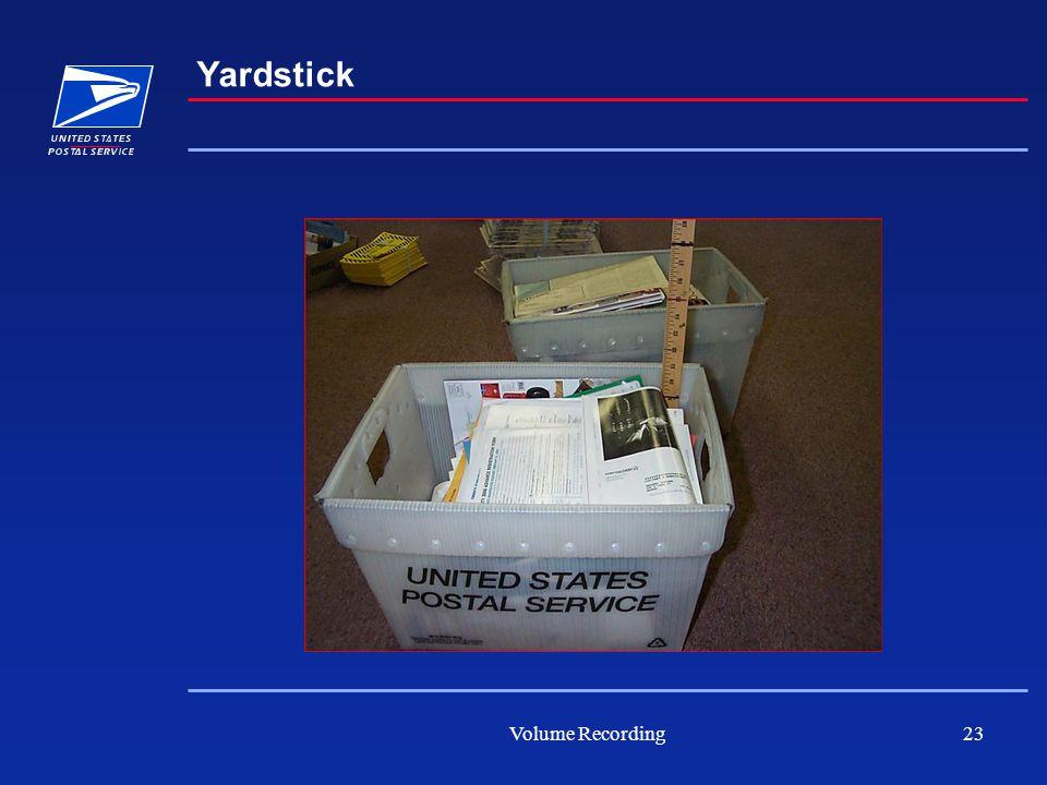 Volume Recording23 Yardstick
