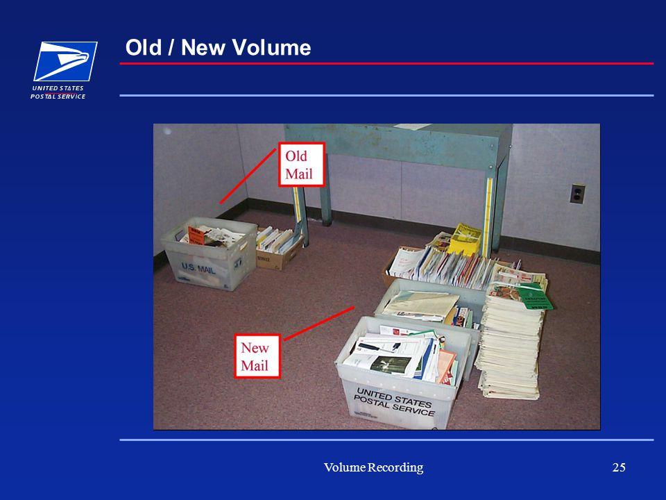 Volume Recording25 Old / New Volume