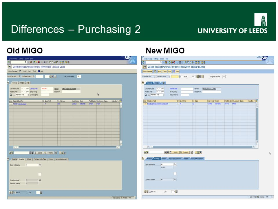 Differences – Purchasing 2 Old MIGONew MIGO