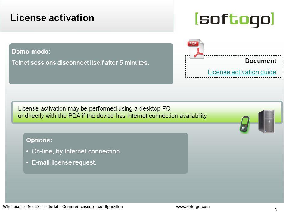 6 WireLess TelNet 52 – Tutorial - Common cases of configuration www.softogo.com
