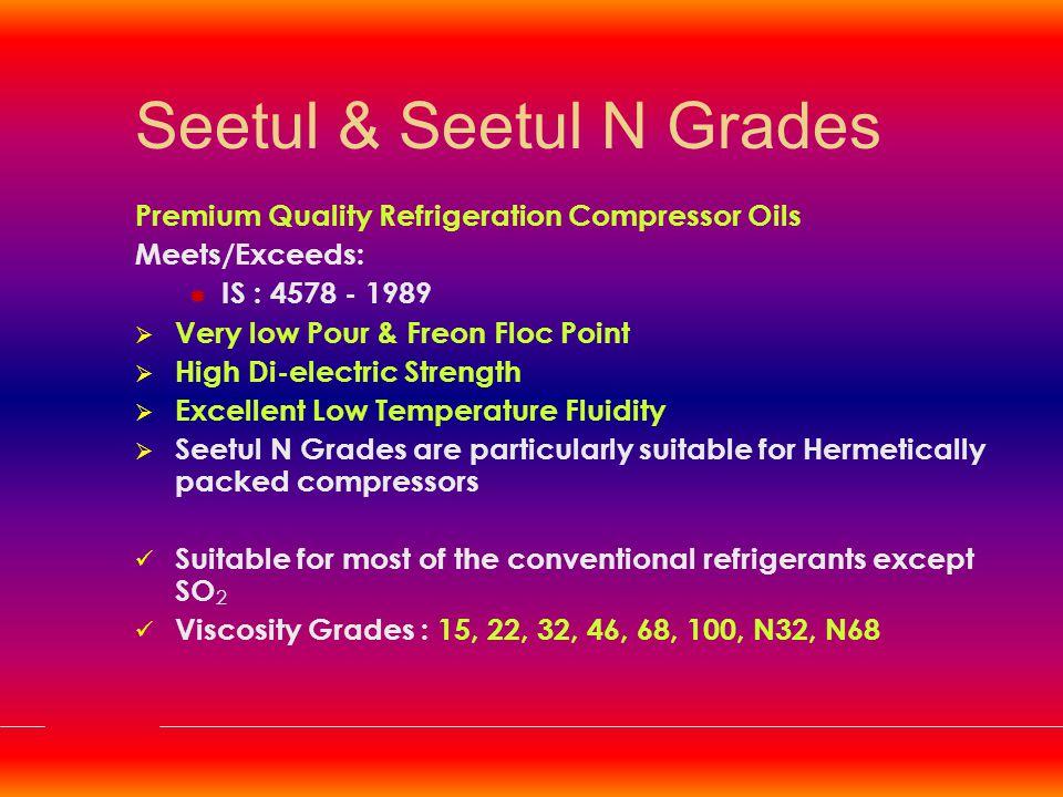 Numatic Grades Premium Quality Pneumatic Oils  High load bearing characteristics  Good adhesiveness & Demulsibility  Good Anti-Rust Properties Viscosity Grades : 100, 220
