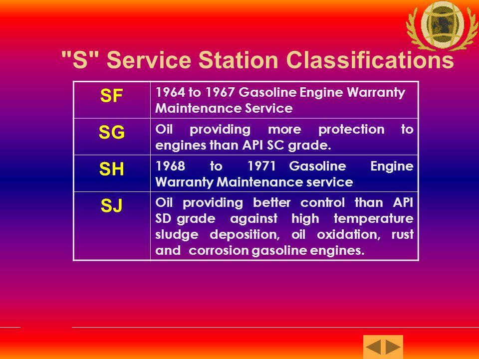 C Commercial Fleet Classifications CA Light Duty Diesel Engine Service.