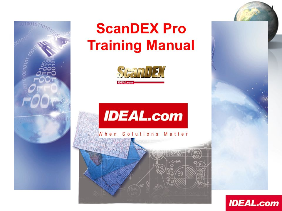 ScanDEX Pro Training Manual This basic training session will help you design, create, use, and maintain a ScanDEX Pro database.