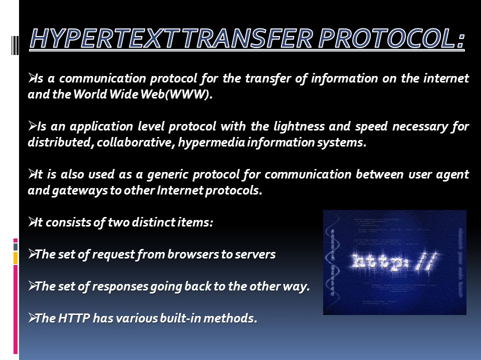  Protocol means the rules that are applicable for a network.