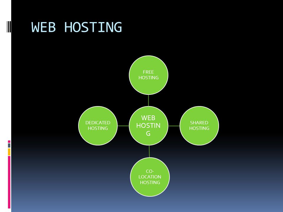 WEB HOSTING Definition: Web Hosting is a means of hosting web server application on a computer system through which electronic content on the internet is readily available to any browser client.