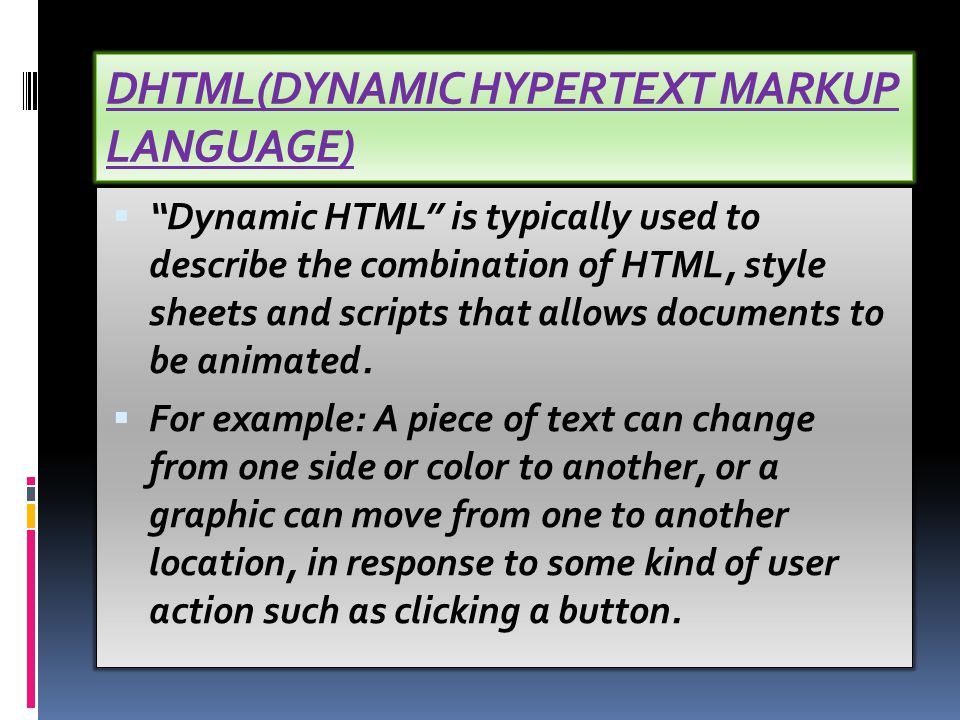 XML and HTML complement each other. For example, HTML includes the tags, or markup language, needed to indicate a section of text that should be cente