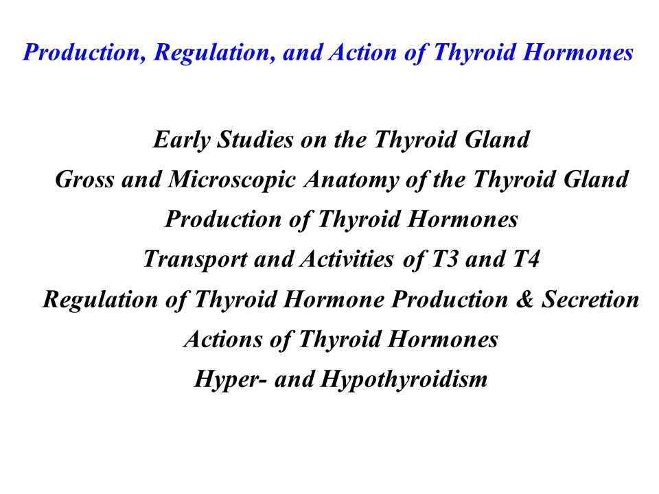 follicle cell extracellular space colloid space I-I- I-I- thyroglobulin with monoiodotyrosines and diiodotyrosines iodination thyroglobulin gene I+I+ oxidation I-I- Na+ K+ Initial Steps in Thyroid Hormone Synthesis