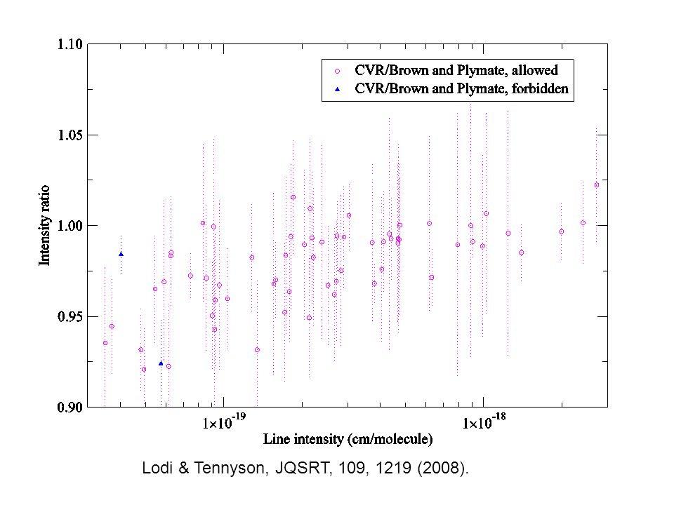 Lodi & Tennyson, JQSRT, 109, 1219 (2008).
