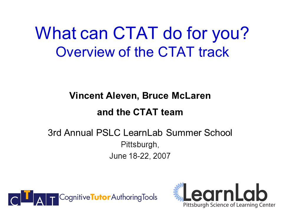 What can CTAT do for you.