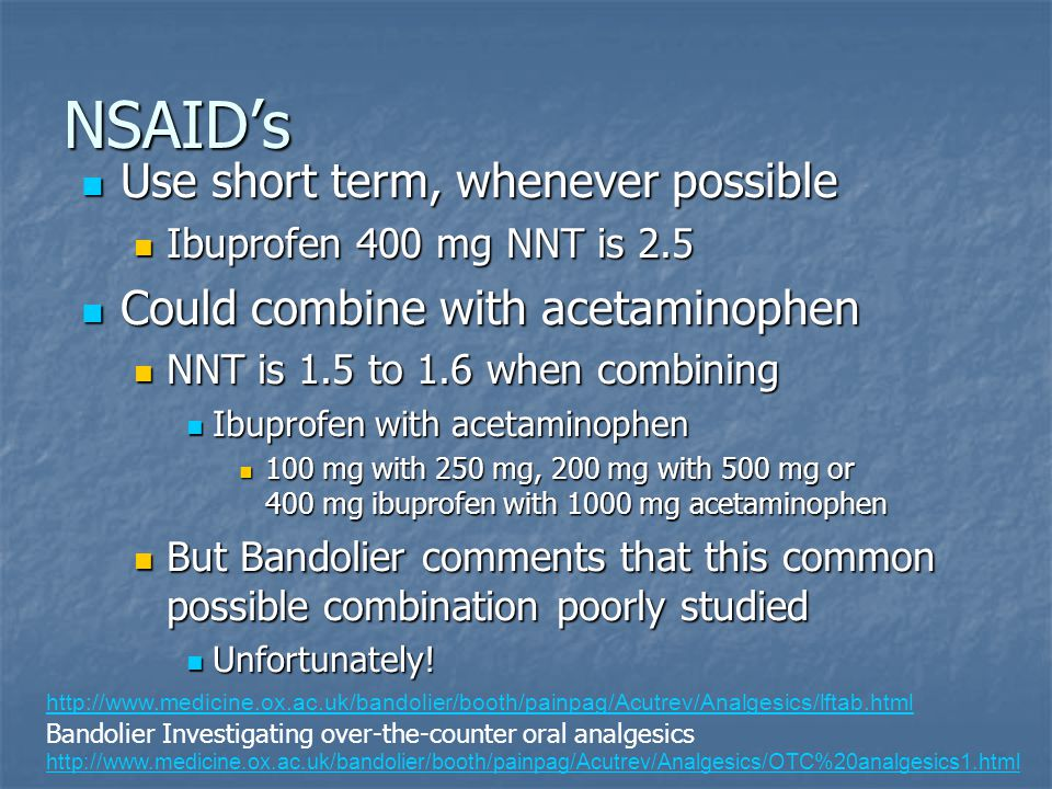 NSAID's Slide created by Bruce Kennedy, Palliative Care Pharmacist, bruce.kennedy@fraserhealth.ca Use short term, whenever possible Use short term, wh