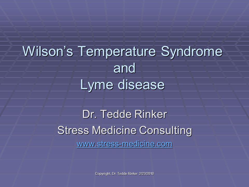 Copyright, Dr. Tedde Rinker 2/23/2010