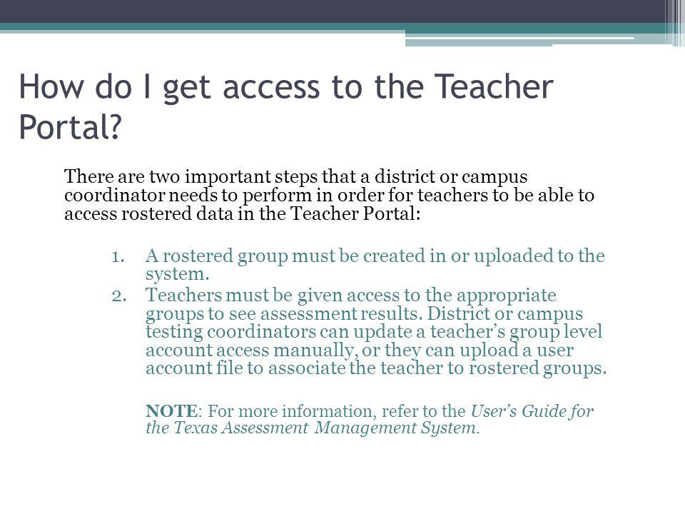 How do I get access to the Teacher Portal.