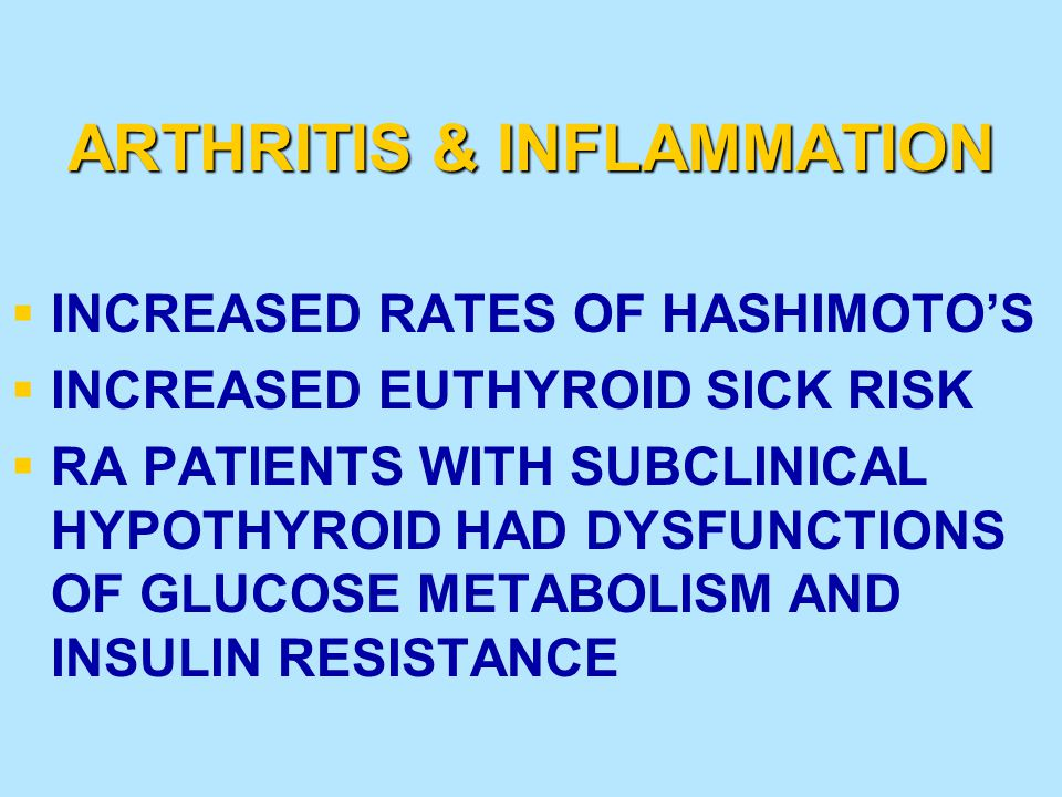 ADAPTING THYROID DOSE TO ENVIRONMENT DOSE INCREASE DOSE (5-20% MORE) LOWER DOSE (5-20% LESS) CONDITIONS INSUFFICIENT EFFECTS WINTER IN THE MOUNTAINS EXERCISING A LOT HIGH PROTEIN DIET LOW VEGGIE/FRUIT DIET LOW CALORIE DIET BETA BLOCKERS ORAL ESTROGEN SLEEP DEPRIVATION SITUATIONS REQUIRING MENTAL ALERTNESS EXCESSIVE EFFECTS SUMMER AT THE BEACH EXCESSIVE STRESS LOW PROTEIN DIET HIGH VEGGIE/FRUIT DIET CAFFEINATED DRINKS UNTREATED CORTISOL DEFICIENCY ANDROGENS IN WOMEN GROWTH HORMONE TREATMENT INSULIN TREATMENT HERTOGHE, T; The Hormone Handbook.