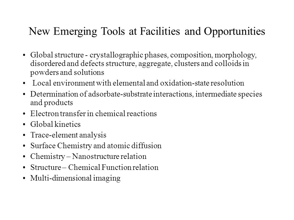 Major Challenges Research at the neutron and photon facilities are difficult and high risk.