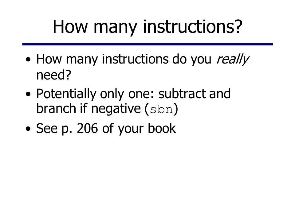 How many instructions. How many instructions do you really need.