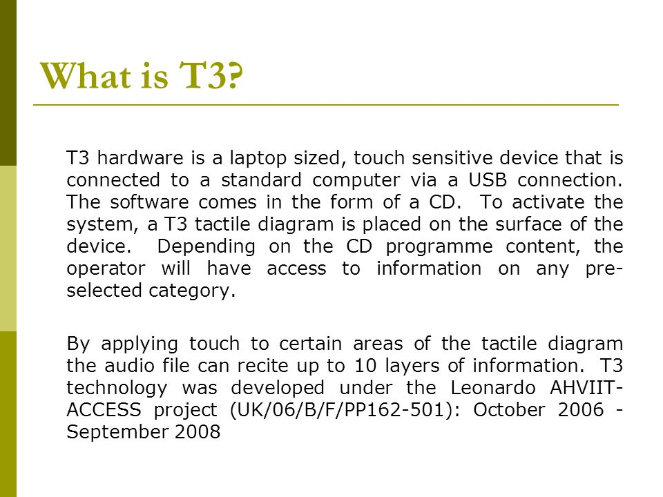 What is T3.