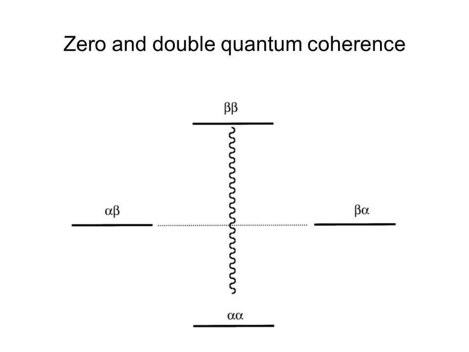 Zero and double quantum coherence