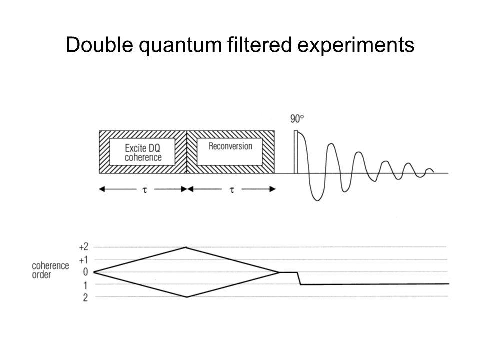 Double quantum filtered experiments