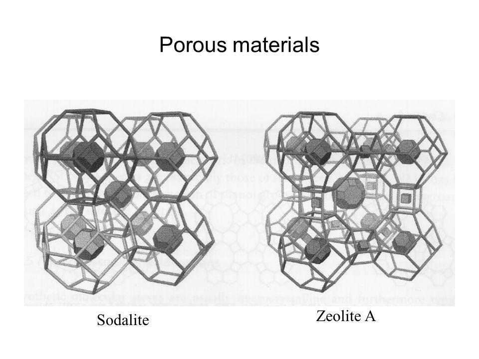 Porous materials Sodalite Zeolite A