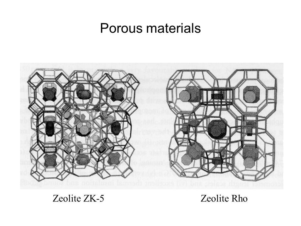 Porous materials Zeolite ZK-5Zeolite Rho