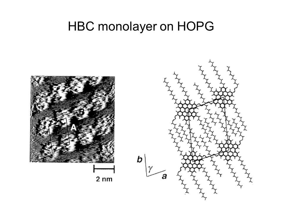 HBC monolayer on HOPG
