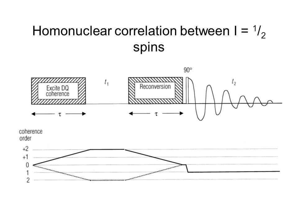 Homonuclear correlation between I = 1 / 2 spins