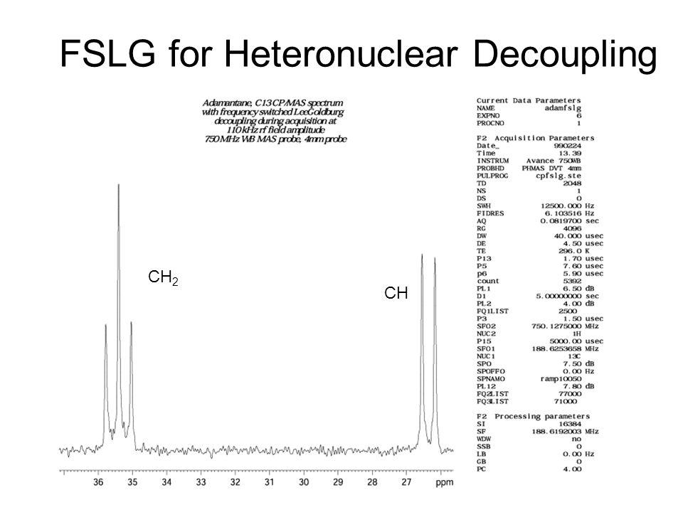 FSLG for Heteronuclear Decoupling CH CH 2