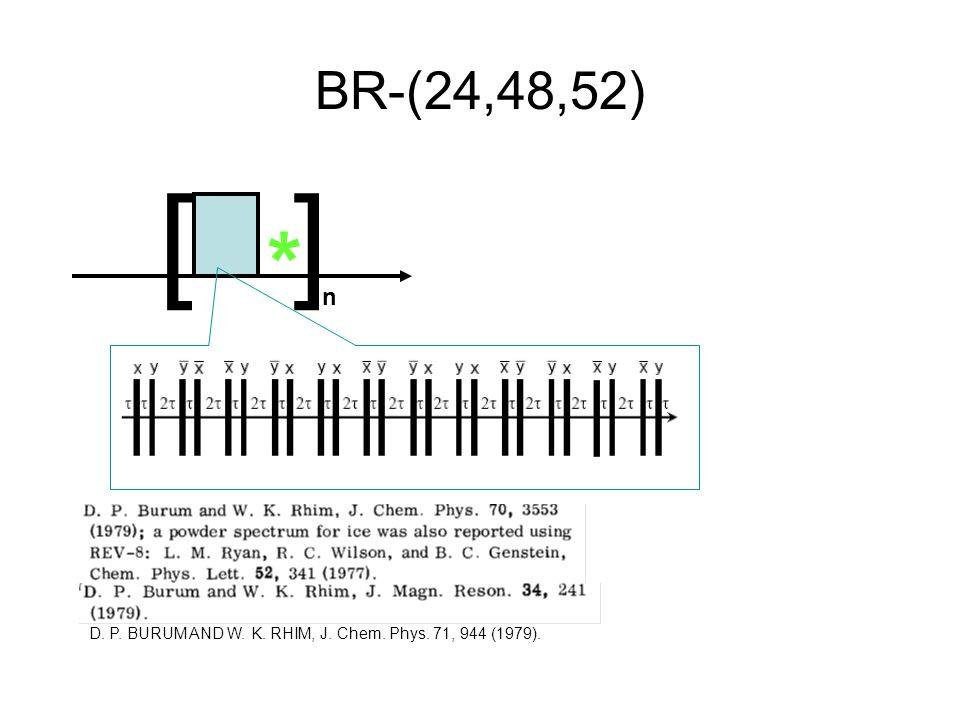 BR-(24,48,52) D. P. BURUM AND W. K. RHIM, J. Chem. Phys. 71, 944 (1979). [] n *