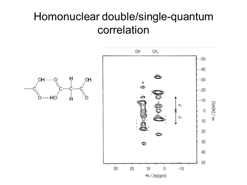 Homonuclear double/single-quantum correlation