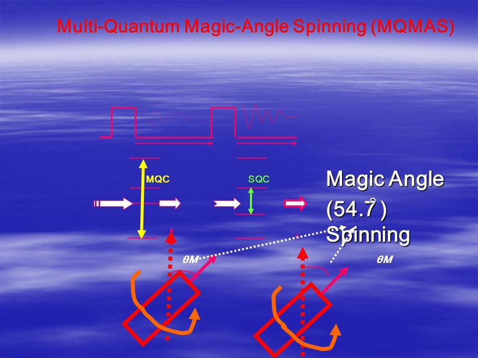θM θM MQC SQC Magic Angle (54.7 ) Spinning o Multi-Quantum Magic-Angle Spinning (MQMAS)