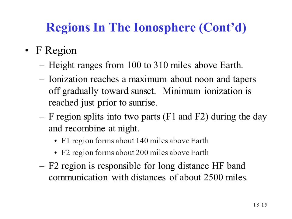 T3-16 HF Scatter Modes All electromagnetic wave propagation is subject to scattering influences from the Earth's atmosphere, ionospheric regions and objects in radio path.