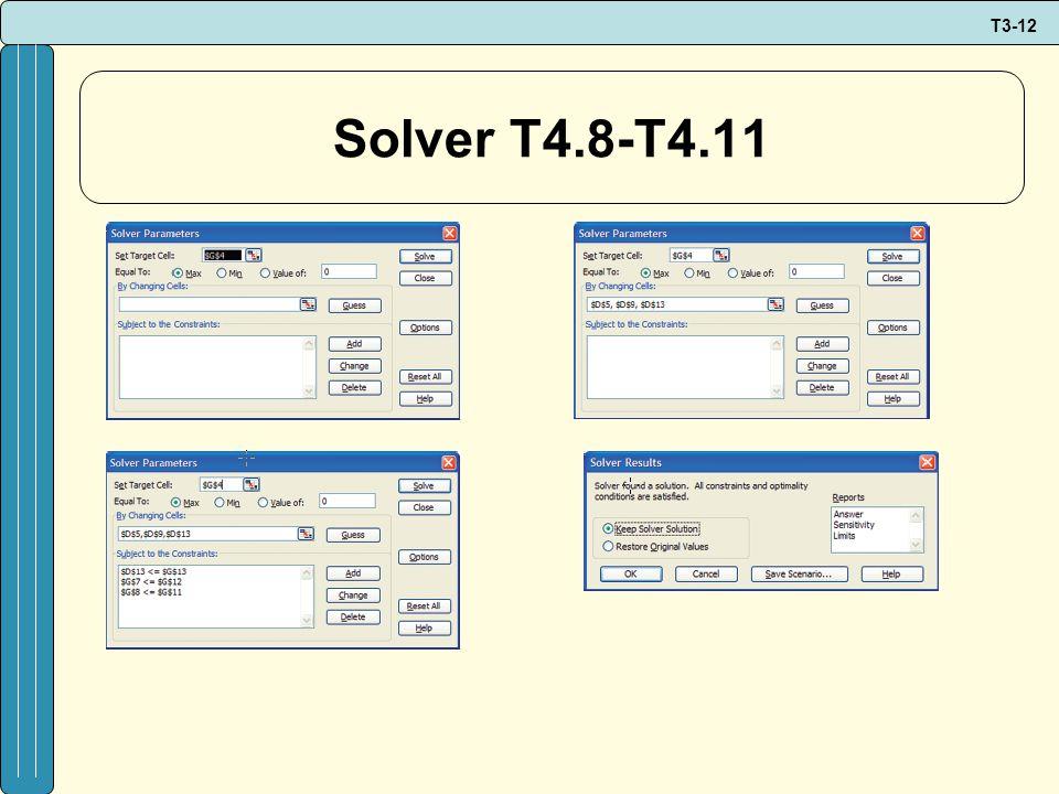 T3-12 Solver T4.8-T4.11