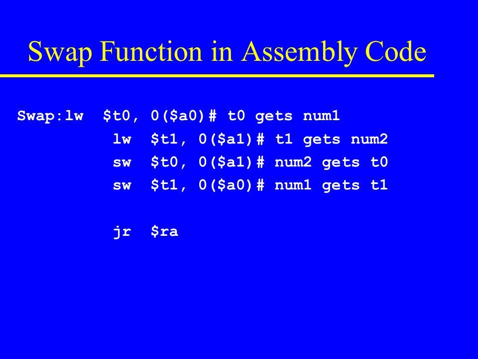 Selection Sort function in C void SelSort(int v[], int length) { int indexMin; for(int s = 0; s < length-1; s++){ indexMin = s; for(int k = s+1; k < length; k++){ if(v[k] < v[indexMin]) indexMin = k; } swap(v[s], v[indexMin]); } }