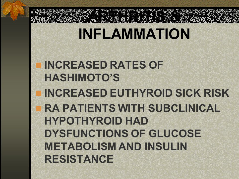 THYROID MYTHS SUBCLINCAL HYPOTHYROID DOES NOT NEED TO BE TREATED HEALTH RISK IS HUGE IF UNTREATED TSH IS THE BEST CLINICAL MARKER INSENSITIVE NEAR NORMAL GETS TOO SMALL BEFORE FULL CLINICAL EFFECT IODINE IS GOOD FOR THYROID FUNCTION DECREASES THYROID FUNCTION IF NOT DEFICIENT SYNTHETIC THYROID MEDS ARE MORE PRECISE AND MORE SCIENTIFIC THAN NATURAL NATURAL THYROID IS USP AND HAS > EFFECT HALF-LIFE IS LONG IN MOST THYROID MEDS MOST PEOPLE END UP ON 2 MEDS IF SYNTHROID ALONE CAN'T CONVERT T4 TO T3 IF CYTOMEL ALONE T4 GOES TO ZERO