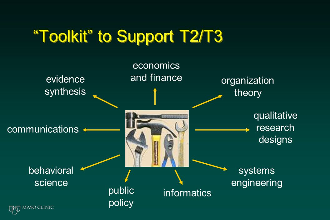 """Toolkit"" to Support T2/T3 evidence synthesis economics and finance organization theory qualitative research designs systems engineering informatics p"