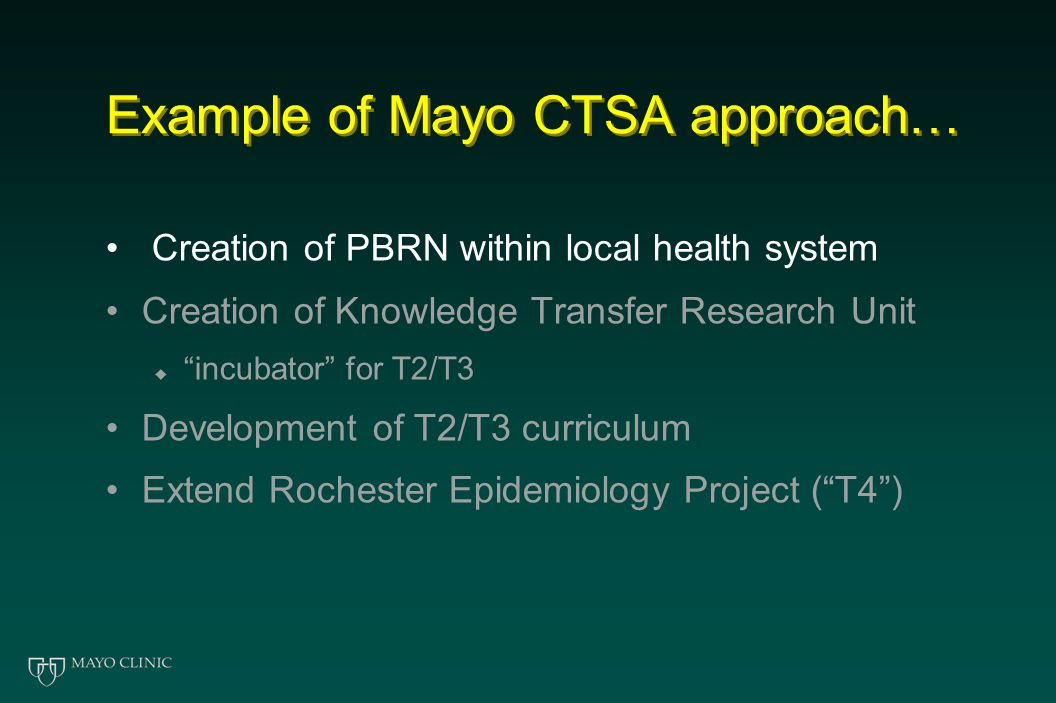 Changing Practice Through Research: Role of the CTSA Initiative TRANSFORMATION!